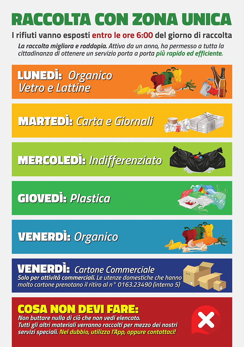 calendario raccolta rifiuti