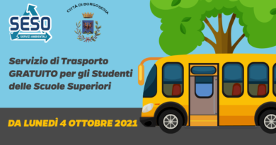 Servizio di trasporto gratuito per gli studenti delle scuole superiori